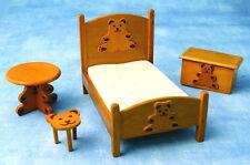 Dolls House Furniture:   Teddy Bear  Nursery Furniture Set      12th scale