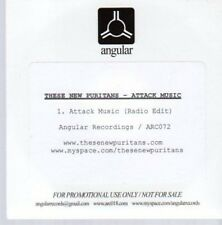 (AU411) These New Puritans, Attack Music - DJ CD