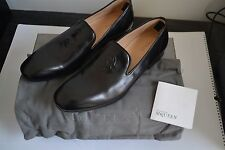 BRAND NEW BOXED ALEXANDER MCQUEEN BLACK SKULL LEATHER LOAFERS SHOES 42.5 8.5