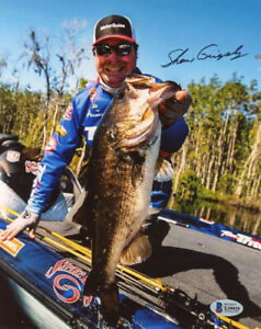 SHAW GRIGSBY SIGNED 8x10 PHOTO FAMOUS CELEBRATED FISHERMAN FISHING BECKETT BAS