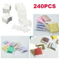 240 Pieces Plastic Winding Plate Floss Bobbins For Embroidery Floss Organizer