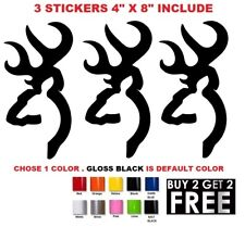 (#705) 3x BROWNING HUNT DEER BUCK CHASSE sticker vinyl car decal