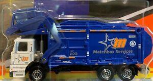 Matchbox Working Rigs International Garbage King XL Truck - Blue - 2021 - RARE!