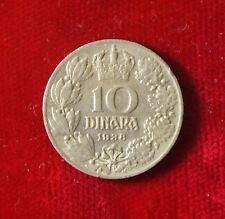 Münze Coin Jugoslawien Jugoslavija 10 Dinar Dinara 1938 (H3)