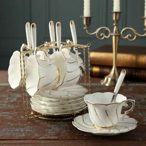 European Ceramic Coffee Cup And Saucer Set Creative Nordic Bone China Tableware