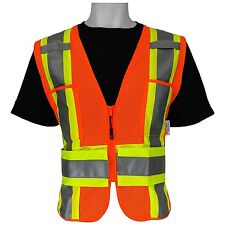 3M ANSI Class 2 High Visibility Safety Vest Adjustable Size X-Large 2XL 3XL 4XL