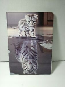 TOMYOU PU Leather Protective Case For iPad 10.2 Tablet Kitten With Tiger Image