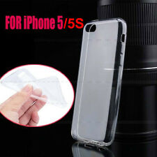 Transparent Crystal TPU Silicone Skin Shell Protect Cover Case For iPhone 5 5s