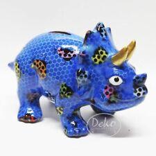 POMME PIDOU - exklusive Spardose - Keramikfigur DINO WINSTON blau / Käfer