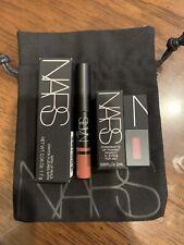 NARS SATIN LIP PENCIL & American Woman & Bag Rikugien Travel Size Lipstick NEW