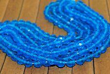 `New 25 Pieces Fine Czech Fire Polish Crystal Beads -  Capri Blue - 8mm - CG611