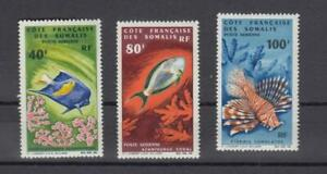 French Somali Coast: Exotic  Fishes MNH  cat.  $44.50