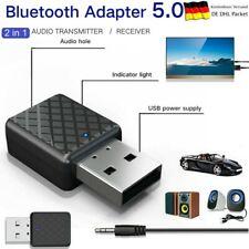 USB Bluetooth V5.0 Audio Transmitter Sender für TV Lautsprecher Kopfhörer 3.5mm
