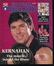 1995 AFL Football Record Richmond Tigers v Fremantle Dockers April 1 unmarked