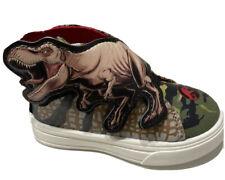 Toddler Kids Jurassic World T Rex Sneakers Slip on Press Stick Size 7 Nwt