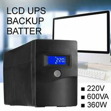 600VA 360W UPS 4 Outlet Surge Office Uninterruptible Protection Power Supply