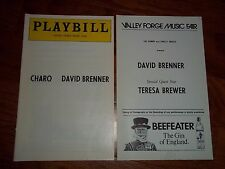 Valley Forge Music Fair  Phila.1977 Playbill Charo--David Brenner-Teresa Brewer