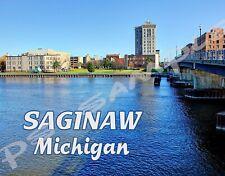 Michigan - SAGINAW - Travel Souvenir Flexible Fridge Magnet