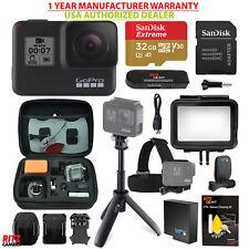 GoPro Hero 7 Black Camera, GoPro Shorty + HeadMount, Sandisk 32GB MicroSD Kit