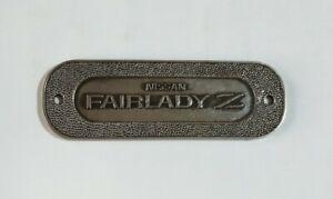 "ORIGINAL ""NISSAN FAIRLADY Z"" Metal Boot Fender Door Panel Car Emblem Logo Badge"
