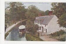 Llangollen Berwyn Canal & Old Houses Vintage Postcard 328a