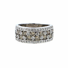 LeVian Chocolate Diamond Wide Band Over 2ct TW 18K White Gold