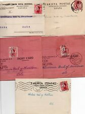 SPAIN: Lot 5 postcards to Norway 1932-1934.