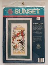 Dimensions Sunset # 13574 In a Gilt Cage Counted Cross Stitch Kit Unopened