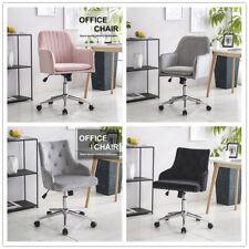 Velvet Office Desk Executive Computer Chair for Home Office Swivel Chair Grey
