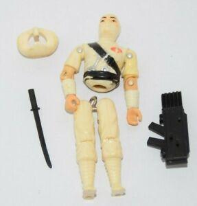 GI Joe ARAH Vintage 1984 Storm Shadow With Sword & Backpack - Needs Repair White
