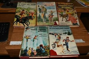 Vintage Lot of 5 The Happy Hollisters / Jerry West Mystery Books w/ DJ 1950's