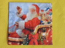 5 stück Servietten Weihnachtsmann Kutsche Spielzeug Santa Weihnachten laterne