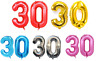 """30th Helium Foil Birthday/Anniversary Party Balloon 32"""" Or 40"""""""