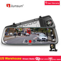 10'' Junsun Dual Lens FHD 1080P Dash Cam Car DVR Rearview Mirror Video Recorder