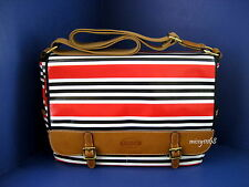 New with Tag Fossil Keyper Messenger Red Stripe SHB1134629 Laptop Brief Case