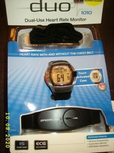 Sportline Duo 1010 Dual- Use Heart Rate Monitor Performance Watch SP4960BK