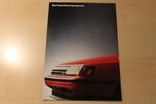 01568) Toyota Starlet Corolla Celica MR 2 Supra Prospekt 11/1987