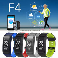 NO.1 F4 IP68 Waterproof Heart Rate Blood Pressure Fitness Tracker Smart Watch