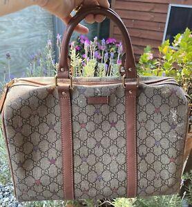 Authentic Gucci JOY GG Supreme Stars Canvas Boston Bag As Is.