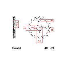PIGNONE S AC P530-D15   76/77 KAWASAKI Z (KZ400D3/D4) 400 54.2440115