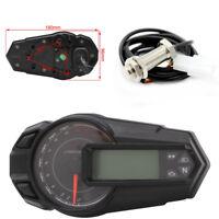 1x Motorrad ATV Tachometer Kilometerzähler Tachometer KMH mit Sensor Wasserdicht