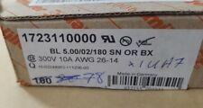 LOT OF 78 WEIDMULLER 1723110000 BL 5.00/02/180 SN OR BX  (U1.6B2)