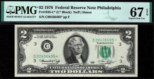 1976* $2 Philadelphia Federal Reserve STAR* Note FRN • PMG 67 EPQ • 1935-C*