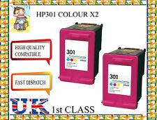 2 Remanufactured hp301 High Capacity& Quality Inkjet Cartridges hp nonoriginal