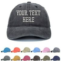 Custom Embroidered Washed Hats Your Own Text Hip Hop Hat Snapback Baseball Cap