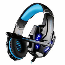 G9000 USB Mic 7.1 Surround Sound Gaming Headphone Headset Volume Control Blue