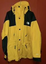 The North Face Mountain Gore-Tex Waterproof Hooded Jacket Large Yellow Vintage