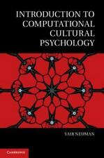 Introduction To Computational Cultural Psychology (culture And Psychology): B...