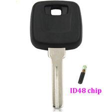 FOR Volvo BLANK Ignition blank Key + ID48 chip TRANSPONDER S80 S60 V70 XC70 XC90