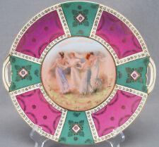 Schmidt & Co Josef Riedl Royal Vienna Style Vestal Virgins Cake Plate Circa 1900
